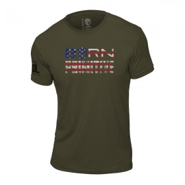"""BORN PRIMITIVE - T-Shirt Homme """"The Patriot Brand Tee"""" OD Green dr wod"""