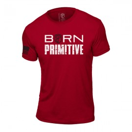 """BORN PRIMITIVE - T-Shirt Homme """"The Patriot Brand Tee"""" Red dr wod"""