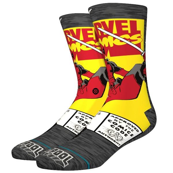 Stance Deadpool Comic Sock Grey L
