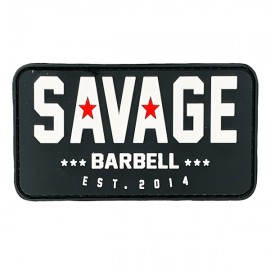 "SAVAGE BARBELL - Parche Velcro PVC ""Classic logo"""