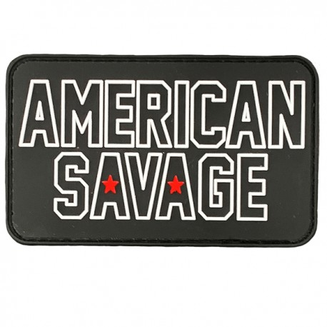 "SAVAGE BARBELL - Patch Velcro PVC ""American Savage"""