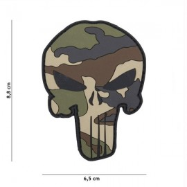 """DR WOD """"Camo Punisher"""" Rubber Velcro Patch"""