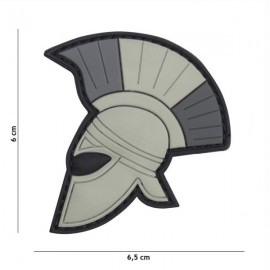 "DR WOD ""Spartan head"" Rubber Velcro Patch"