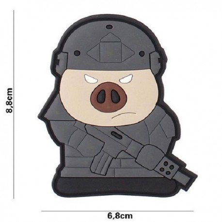"DR WOD ""Tactical Pig"" Rubber Velcro Patch"