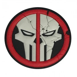 """DR WOD - Patch Velcro PVC """"Deathpool Skull"""""""
