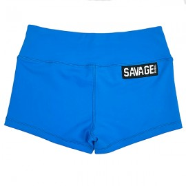 "SAVAGE BARBELL - Women Booty Short ""Blue Sapphire"""