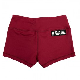 "SAVAGE BARBELL - Women Booty Short ""Burgundy"""