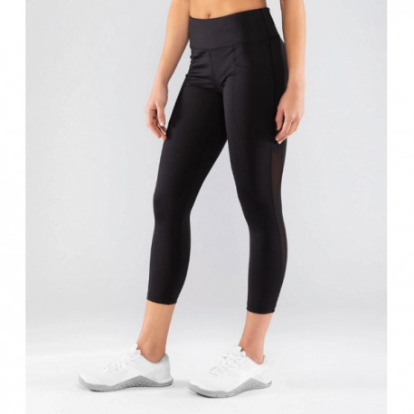 VIRUS - ECo53.5 | Lux Mesh Stay Cool - Black 7/8 Compression Leggings