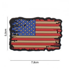 "DR WOD ""Vintage US Flag"" Rubber Velcro Patch"