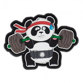 "DR WOD - ""Back Squat Panda"" Rubber Velcro Patch"