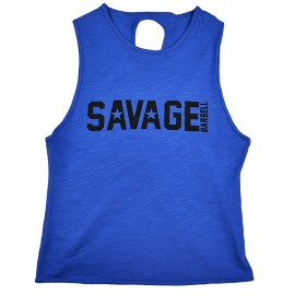 "SAVAGE BARBELL - Tank Mujer ""Crossback - Royal Blue"""