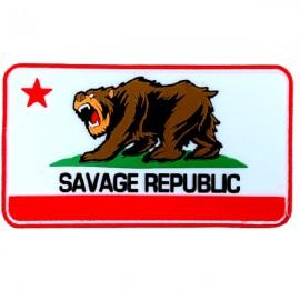"""SAVAGE BARBELL - Patch Velcro PVC """"Savage Republic"""""""