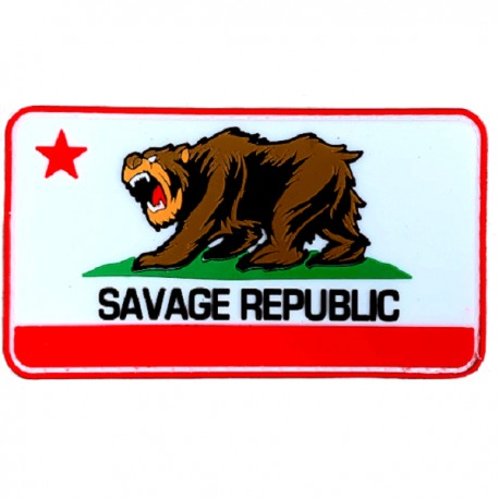 "SAVAGE BARBELL - Parche Velcro PVC ""Savage Republic"""
