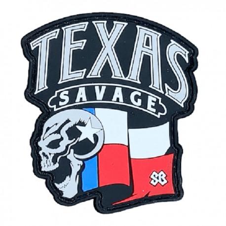 "SAVAGE BARBELL - Parche Velcro PVC ""Texas Savage"""