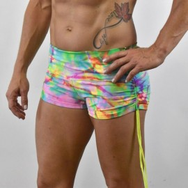 "WOD RAGE - Short DRAWSTRINGS Tie & Dye ""Rainbow"""