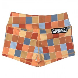 """SAVAGE BARBELL - Short Mujer """"Disco Square"""""""