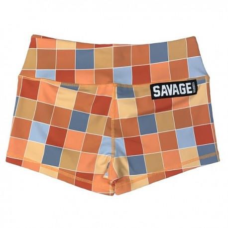 """SAVAGE BARBELL - Women Booty Short """"Disco Square"""""""