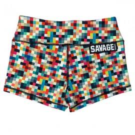 "SAVAGE BARBELL - Short Femme ""Tetris"""