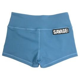"SAVAGE BARBELL - Women Booty Short ""Blue Steel"""