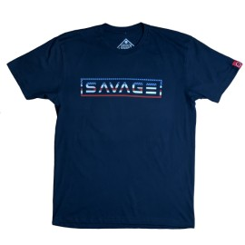 "SAVAGE BARBELL - Men T-Shirt ""Uncle Sam""Navy Blue"