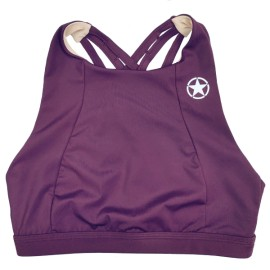 "SAVAGE BARBELL - Women Sports Bra "" 6 Strap- High Chest ""Wine"""