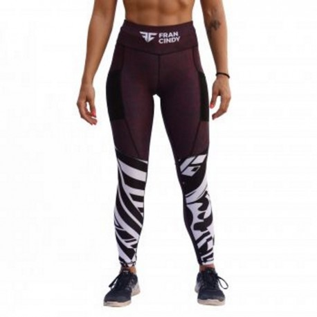 "FRAN CINDY - Women Leggings ""Burgundy"""