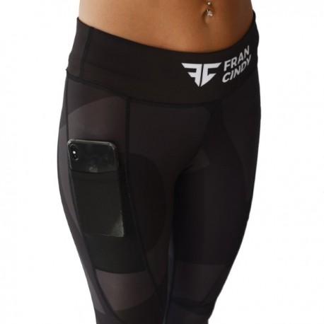 "FRAN CINDY - Women Leggings ""Black Logo"""