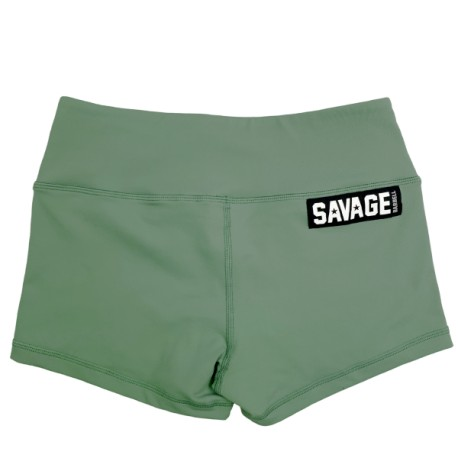 "SAVAGE BARBELL - Women Booty Short ""Moss"