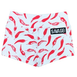 """SAVAGE BARBELL - Women Booty Short """"Chili Pepper"""""""