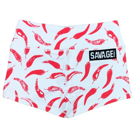 "SAVAGE BARBELL - Women Booty Short ""Chili Pepper"""
