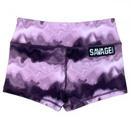 "SAVAGE BARBELL - Women Booty Short ""Purple Hippie"""