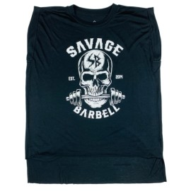 SAVAGE BARBELL -Rolled Cuff Tee - Bite Me