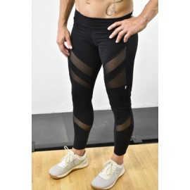 ANGEL DEL MAR - Legging Long Femme modèle MESH