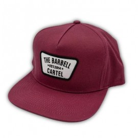 """THE BARBELL CARTEL - Casquette """"SNAPBACK"""" Classic Logo Cranberry"""