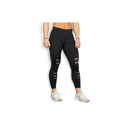 """THE BARBELL CARTEL - Womens  leggingsComp """"Distressed 7/8 Core"""