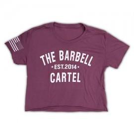 """THE BARBELL CARTEL - T-shirt Femme """"BRBL CROP"""" Violet"""