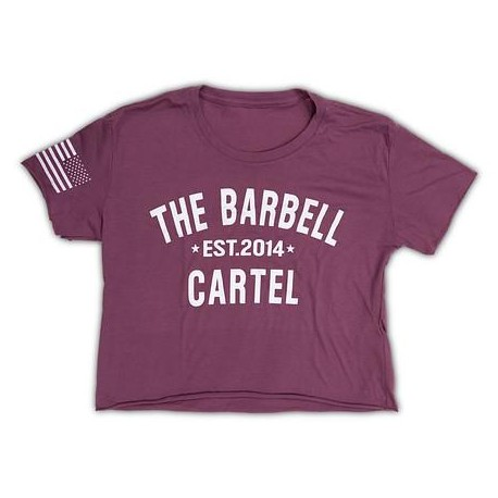 """THE BARBELL CARTEL - T-shirt Femme """"BRBL CROP"""" Purple"""