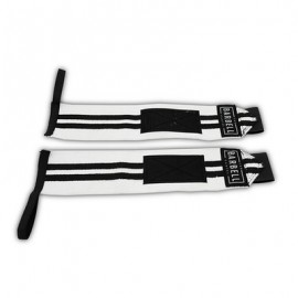 THE BARBELL CARTEL -  ELASTIC WRIST WRAPS BLACK AND WHITE