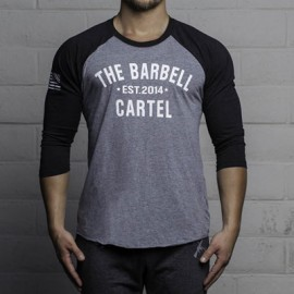 "THE BARBELL CARTEL - T-shirt de Baseball ""CLASSIC LOGO"""