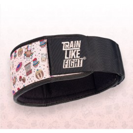 TRAIN LIKE FIGHT - HR Weightlifting Belt - Rainbow Cookie Attitude Soft Pink Edition