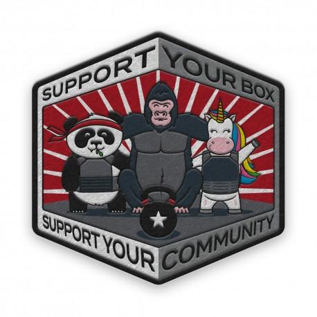 "DR WOD - ""Deadlift Panda"" Rubber Velcro Patch"