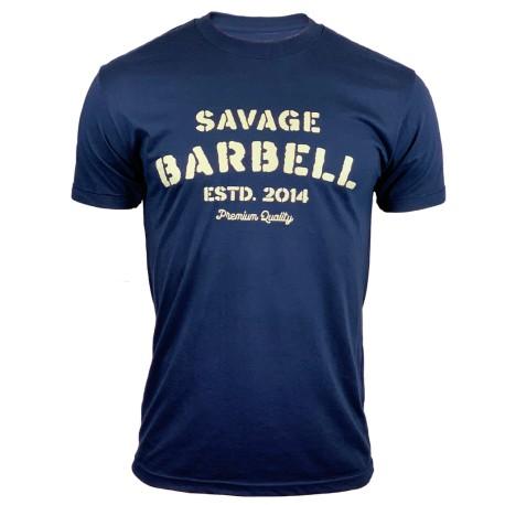 "SAVAGE BARBELL - Men'sT-Shirt PREMIUM SINCE 2014"""