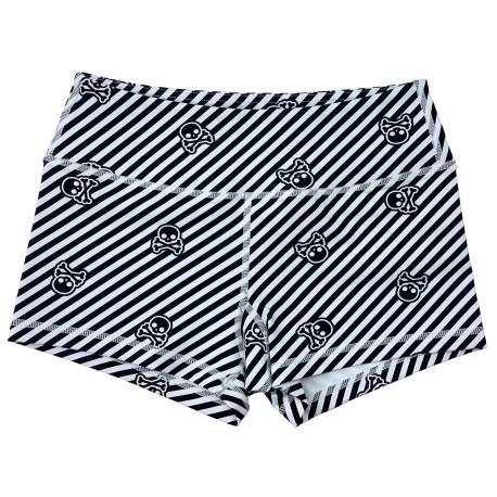 "SAVAGE BARBELL - Women Booty Short ""SKULLS"