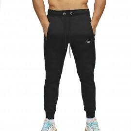 FRAN CINDY - Jogging BLACK STRUCTURE JOGGER