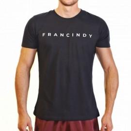 FRAN CINDY - Tee-Shirt Homme BLACK LETTER TEE