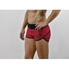 drwod_femme_short_fitness_321apparel_WOD_side_rouge