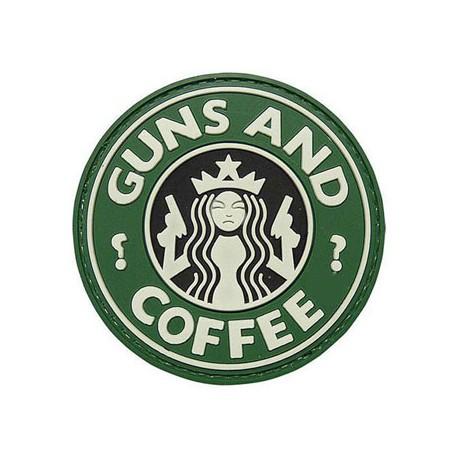 drwod Patch velcro PVC guns & coffee