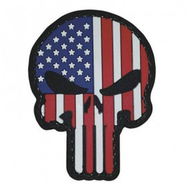 "Dr WOD - ""US Punisher"" PVC Velcro Patch"