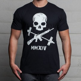 dr_wod_T_shirt_Crossfit_THE_BARBELL_CARTEL_JOLLY_ROGER_Noir