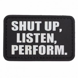 "DR WOD - ""Shut Up"" PVC Velcro Patch"